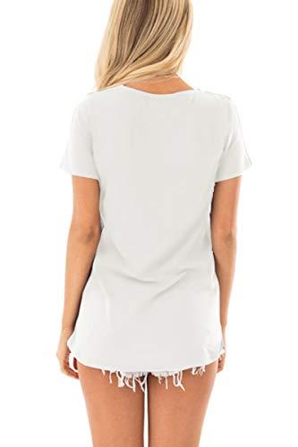 Spadehill Women Short Sleeve Color Block Striped T Shirts