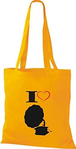 Shirtstown - Bolso de tela de algodón para mujer Amarillo - goldgelb
