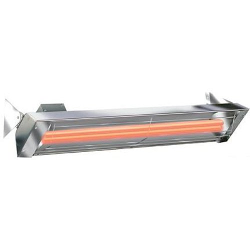 QBC Bundled Infratech WD5024SS WD Series Dual Element Electric Infrared Heater 39 inches 5000 Watts 240V 20.8 AMPS Stainless Steel Plus Free QBC eGuide - An Infrared Heating Guide (8 Element Infrared Quartz Heater)