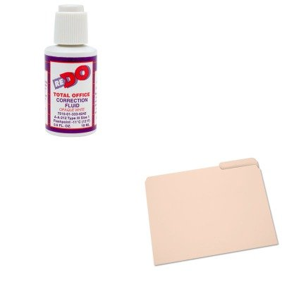 KITNSN2822507NSN3336242 - Value Kit - NIB - NISH 7510013336242 Correction Fluid (NSN3336242) and NIB - NISH 7530002822507 Light-Duty File Folder (NSN2822507) by NIB - NISH (Image #1)