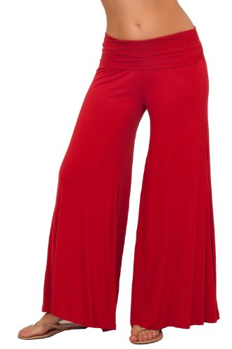 Hot from Hollywood Women's Long Gaucho Boho Flare Elephant Wide Leg Sassy Pants