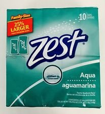 Zest 10-Bar Aqua Bath - 5oz/6pack (60 Bars)