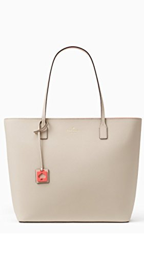 Kate Spade Abbey Street Karla Saffiano Leather Tote Shoulder Bag Purse Handbag (pumice/surprise coral) by Kate Spade New York