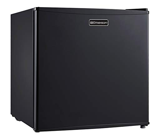 Emerson CR160BE 1.6 Cubic Foot Compact Single Door Refrigerator, Black