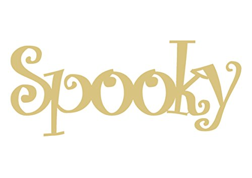 WORD SPOOKYUnfinished Wood Shape Cut Out Variety of