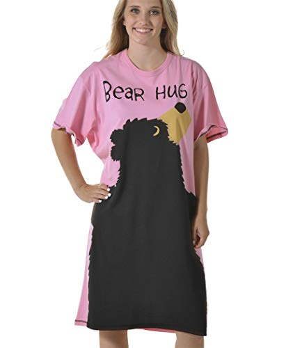 Bear Hug-Bear Pink Nightshirt by LazyOne, Pink, One Size