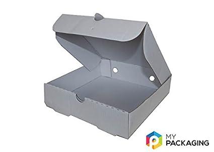 7 x 7 blanco Pizza cajas de cartón (100 unidades, embalaje: Amazon.es: Industria, empresas y ciencia