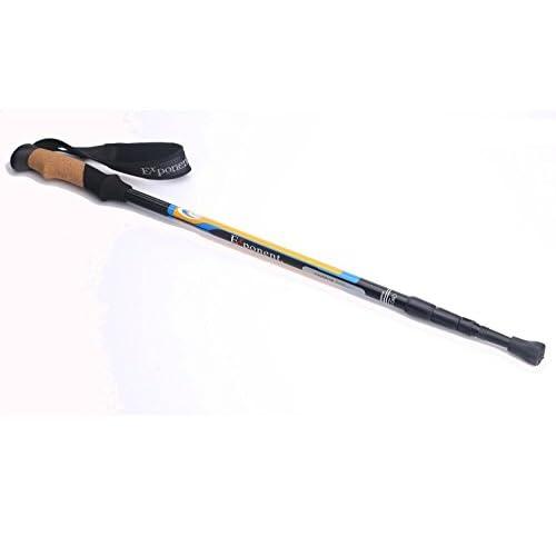 LRZNGZ Ultra-léger Bâtons d'escalade extérieurs Trois fibres de carbone à poignée droite Éloignez les béquilles du vieil homme Climbing sticks