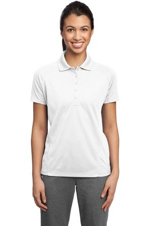 Sport-Tek Ladies Dri-Mesh Pro Sport Shirt, White, X-Large