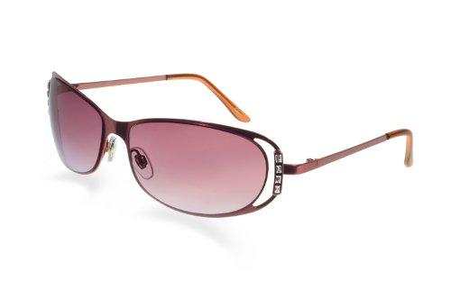 Blublocker Bevel Edge Pink/Purple Cut Out Frame Sunglasse...