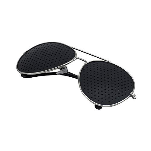 MonLiya 2PCS Retro Pinhole Sunglasses For Women Men Small