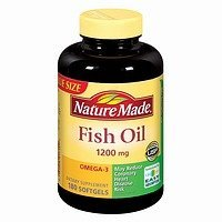 Nature Made Fish Oil Omega-3 1200mg, 180 Softgels (Pack of 2)