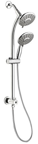 - Keeney Manufacturing SYM001CP Belanger Slide Bar Mounted Hand and Fixed Shower Head Kit, Polished Chrome