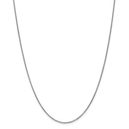 Ring Gold White Snake (14k White Gold 1.4mm Link Cable Chain Necklace 20 Inch Pendant Charm Round Fine Jewelry For Women Gift Set)
