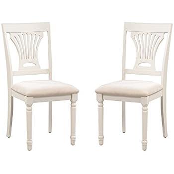Amazon Com Trithi Furniture Portland Wood Ivory White