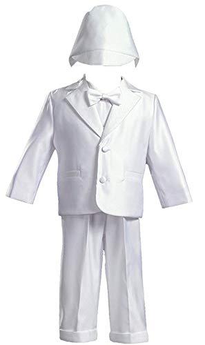 White Satin Christening Baptism Tuxedo - L (9-12 Month)
