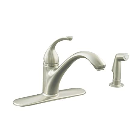 Kohler R10412-N-BN Forte 4 Hole Kitchen Sink Fuacet Vibrant ...
