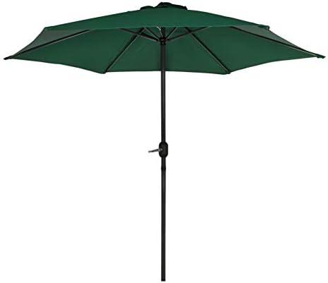 AKTIVE Garden 53871 Parasol hexagonal, diámetro 270 cm, verde mástil aluminio: Amazon.es: Jardín