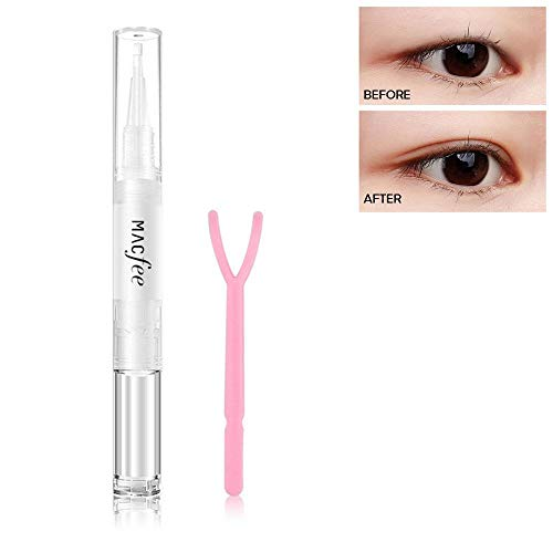 Eyelid Glue, LEEGOAL Waterproof Invisible Double Eyelid Tape Glue with Y Stick, Natural Eyelash Glue Clear for Girls/Women Beauty, Perfect for Hooded, Droopy, Uneven, Mono-eyelids
