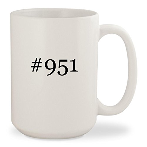 #951 - White Hashtag 15oz Ceramic Coffee Mug - Sunglasses 951