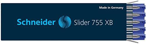 Schneider Slider 755 XB Kugelschreibermine (ViscoGlide-Technologie, dokumentenecht) 10er Packung blau