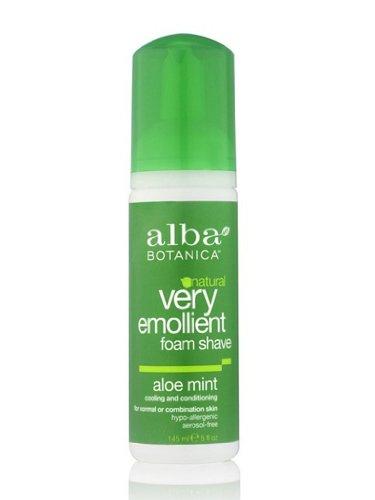 Alba Botanica Moisturizing Foam Shave Aloe Mint, 5 Fluid Ounce