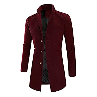 Asibieul Fashion Men's Jacket Warm Winter Casual Trench
