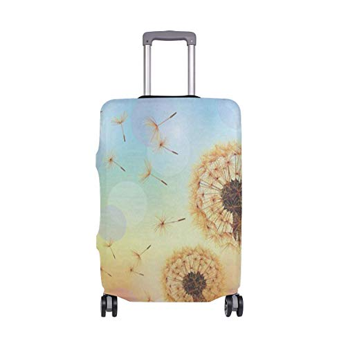 Luggage Cover Carpet Flowers Flying Dandelion The Wind Travel Case Suitcase Bag Protector 3D Print Design