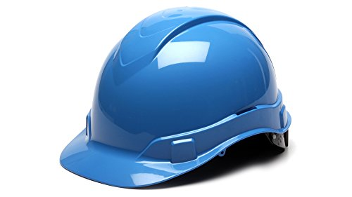 Pyramex HP44162 Ridgeline Cap Style Hard Hat with 4-Point Ratchet Suspension, Light blue