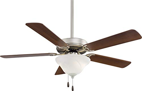 (Minka Aire F548L-BS/DW Contractor Uni-Pack 52'' Ceiling Fan with LED Light, Brown)