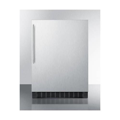FF64BXCSSHV 24 4.6 Cu. Ft. Built-In Undercounter All Refrigerator with Digital Thermostat Adjustable Glass Shelves and High Temperature Alarm in Stanless Steel