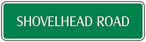 Diuangfoong Shovelhead Road Harley Aluminum Metal Novelty Street Sign Wall Dcor Gift 4