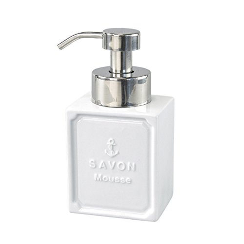 - Time Concept Francais Marine Savon Mousse Foam Soap Dispenser - White Ceramic Bathroom Essential