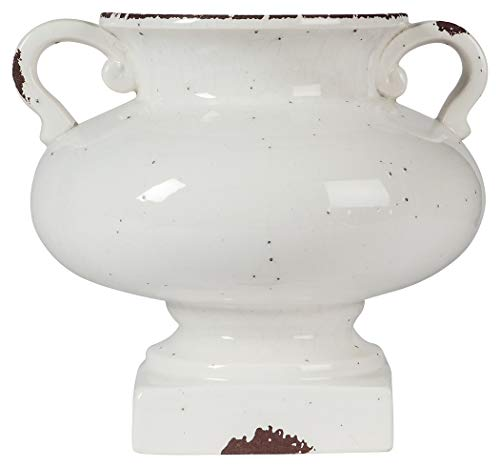 - Ashley Furniture Signature Design - Dierdra Urn - Vintage Farmhouse Style - Antique White