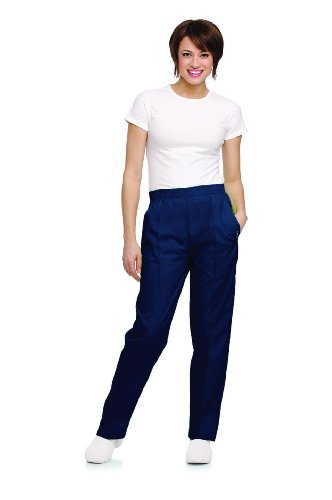 Landau Women's Classic Fit Elastic Waist Scrub Pants Xx-Large Tall ()