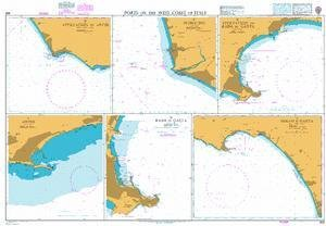 BA Chart 906: Ports on the West Coast of Italy by UKHO