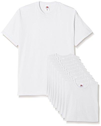 Da T shirt pacco Mens Bianco The T Of Original 10 Loom Uomo Fruit 1AvpBxwaq