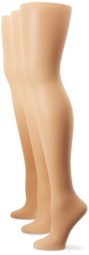 HUE Women's 3-Pack Sheer Shaper Hosiery, Natural, Size 3