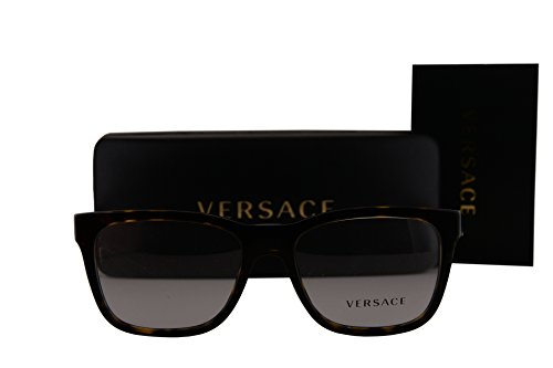 Versace VE3243 Eyeglasses 55-17-145 Dark Havana w/Clear Lens 108 VE - Dark Versace Shades