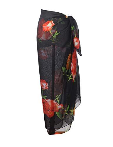 Yoimira Womens Chiffon Swimwear Sarong Beach Pareo Plus Size Cover Ups Light Bathing Suit Wrap ... ()