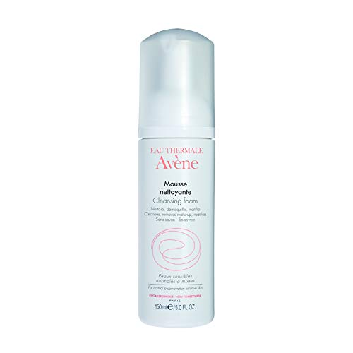 Eau Thermale Avene Cleansing Foam, Soap Free Foaming Face Wash for Oily, Sensitive Skin, Oil Free, 5 oz.