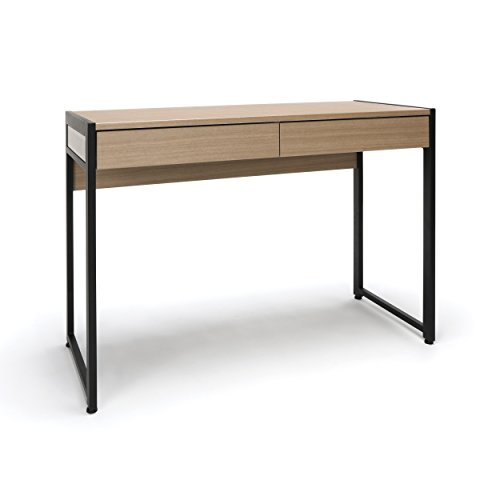 Essentials Office Desk with Drawers - Modern 2-Drawer Computer Desk and Workstation, Harvest (ESS-1002-HVT)