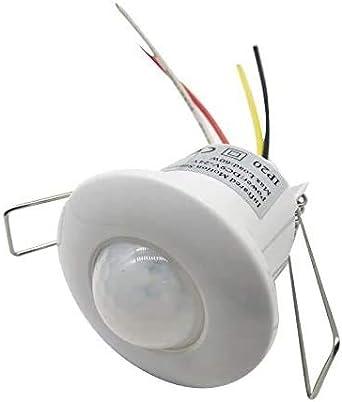 Bombillas LED 9-24V Mini contacto seco Sensor de cuerpo infrarrojo incorporado Interruptor 12v Lámpara de techo con interruptor de sensor