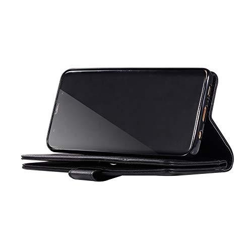 9 Kartenf/ächer Kompatibel mit Galaxy A50 H/ülle Leder Glitzer Silber,Kompatibel mit Galaxy A50 Tasche Magnetische Flip Case Handyh/ülle Premium PU Leder Klapph/ülle Handschlaufe Brieftasche Felfy