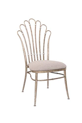 - Chairs With Platinum Tone Color and Finish Decorative Home Accent for Dining 21 inch