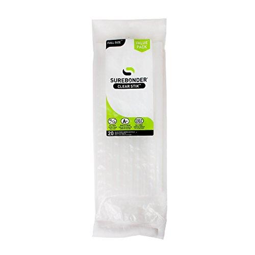 Surebonder DT-2010 Made in the USA All Purpose Stick Glue Sticks-All Temperature-Clear 7/16 D, 10