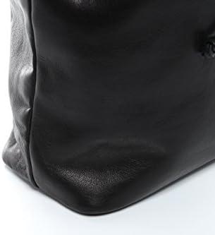 SID & VAIN® Bolso Saco morral Patty Mochila Bolso de Colgar Piel Negro 6kb5cHWf
