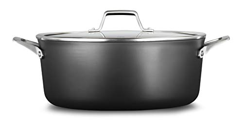 Calphalon 2029654 Premier Hard-Anodized Nonstick 8.5-Quart Dutch Oven with Cover, Black