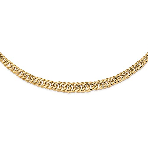 (14K Yellow Gold 11.4 MM Polished Fancy Graduated Curb Link Chain Necklace, 18