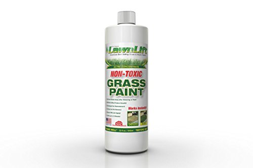 Lawnlift Ultra Concentrated (Green) Grass Paint 1 Quart = 2.75 Gallons of - Grass Spray Green